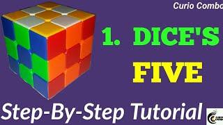 LEARN PATTERN LOCKS -PART '1'-DICE'S FIVE ||With Algorithm Rubik's Cube Pattern tutorial.