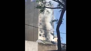 Incendio en 18 de Julio y Martín C. Martínez