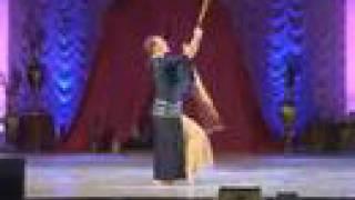 Anna dancing saidi with two sticks