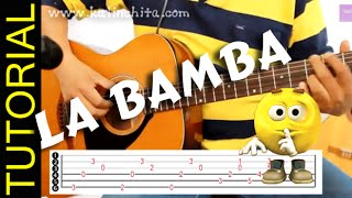 Como tocar LA BAMBA en guitarra acordes letra