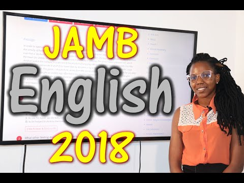 JAMB CBT English 2018 Past Questions 1 - 20