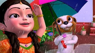 Vana Vana Vallapa & More Rain Songs | Telugu Rhymes for Children | Infobells width=