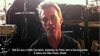 Matt Cameron usa bateria Yamaha (Show Pearl Jam - Morumbi - 04/11/11)