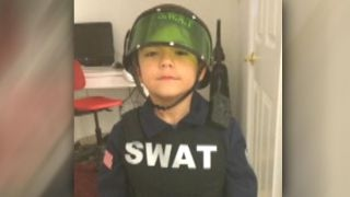 5-year-old's dream of joining the SWAT team comes true