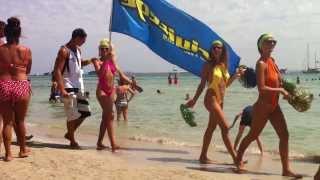 Jockey Club, Salinas Beach Ibiza Eivissa - Island in Spain - Privilege Nightclub Promo Girls