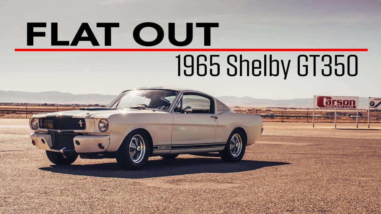 Flat Out in a 1965 Shelby GT350 Mustang thumbnail