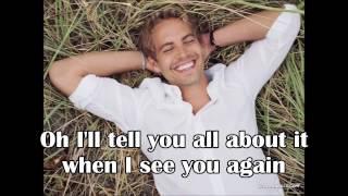 Wiz Khalifa See you Again lyrics-Paul Walker tribute video ( ft Charlie Puth)