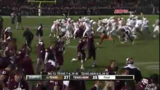 Texas Longhorns vs. Texas A&M Aggies - Justin Tucker Game Winning Field Goal