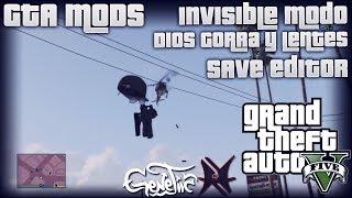 GTA V MODS: Personaje invisible Modo Dios Gorra y Lentes SAVE EDITOR