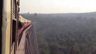 The most dangerous railway bridge  in india
