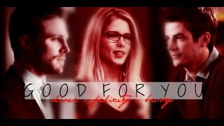 oliver + felicity + barry | good for you [AU] part one (mini-series)