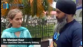 Interaction with Dr. Manjit Kaur, Vice- Chancellor, CMG University, Shillong