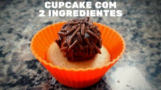 Bolinho de cupcake com 2 ingredientes