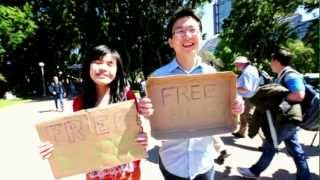 Free Hugs In Hyde Park, Sydney