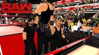 The Shield reunites and attacks Braun Strowman, Raw   WR3D width=