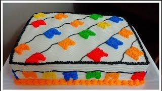 Bolo Festa Junina #MRBolosTortasCupcakes #bolo #bolosdecorados