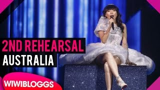 "Second Rehearsal: Dami Im ""Sound Of Silence"" Australia @ Eurovision 2016 