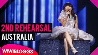 "Second Rehearsal: Dami Im ""Sound Of Silence"" Australia @ Eurovision 2016 | wiwibloggs"