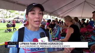 Lipman agradeció a la comunidad de Immokalee con un gran evento regalando mochilas