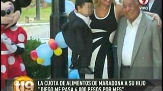 Diego Maradona le pasaría 6.000 pesos por mes a Verónica Ojeda por su hijo