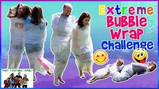 Extreme Bubble Wrap Challenge / That YouTub3 Family