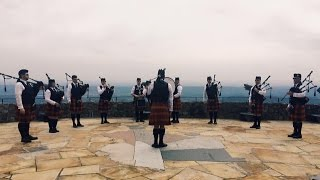 St Patricks Day Bagpipe Band @ Lookout Mountain Chattanooga Rock City 7 States Overlook