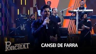 """Dilsinho canta o sucesso """"Cansei de Farra"""" no palco do Porchat"""