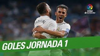 Todos los goles de la Jornada 01 de LaLiga Santander 2018/2019
