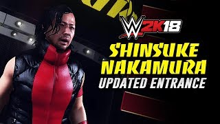 WWE 2K18 - Shinsuke Nakamura New Heel Updated Ring Entrance [SD Live '18]