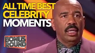 STEVE HARVEY FAMILY FEUD BEST & MOST VIEWED CELEBRITY MOMENTS EVER
