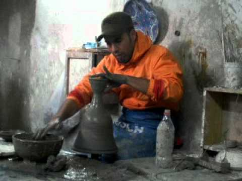 Moroccan Man making pottery