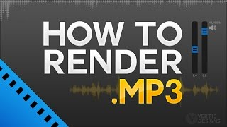 Sony Vegas Pro 13/14 How To Render as MP3 Audio Format (High Quality Audio)