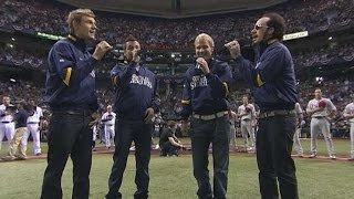 2008 WS Gm1: Backstreet Boys sing the national anthem