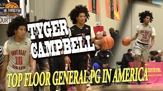 UCLA LANDS Tyger Campbell THE BEST FLOOR GENERAL IN AMERICA EYBL Indy and Atlanta