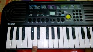 Learn how to play happy birthday tune in Casio sa 47
