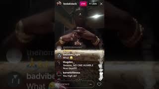 Kodak Black acting very wired on his Instagram live (Illuminati)