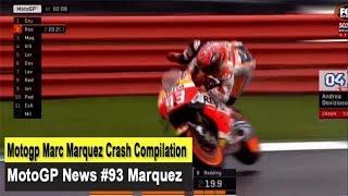 Motogp Marc Marquez Crash Compilation - MotoGP News #93 Marquez