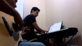 Evandroviolão) Rafael (piano) Bruna carla Jamais deixarei você