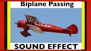 Biplane Pass By Sound Effect | SFX | HD