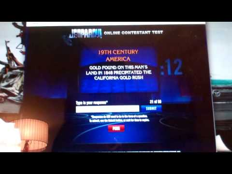 Jeopardy online test January 8 (1/8/2013)