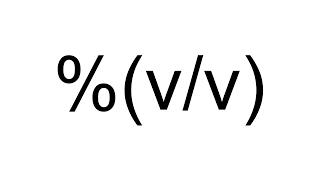 Imagen en miniatura para Porcentaje volumen - volumen (%v/v)