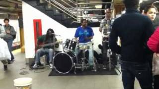 Blue Funk Orchestra in the NYC subway