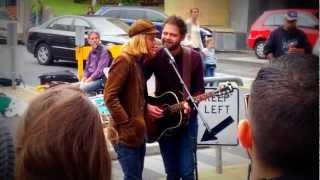 "Passenger - ""Hearts on Fire"" HD Busking LIVE in Hobart - Feat. Stu Larsen"