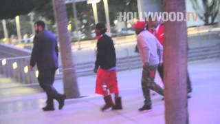 Lil Wayne heads to a Laker's Game