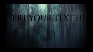 Free Horror Creepy Intro (Project Files + Files Download in description) With Adobe After Effects