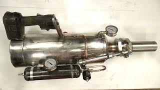 Making a Handheld Air Cannon Steampunk/Powerfull