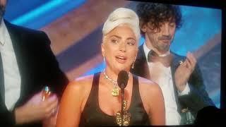 Lady Gaga winning oscar for best original song Oscars 2019