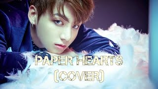 BTS Jungkook - Paper Hearts (Cover) [English lyrics]