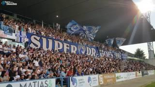Grande apoio dos adeptos do FC Porto em Barcelos