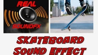 skateboard sound effect - road and ramp realsoundFX